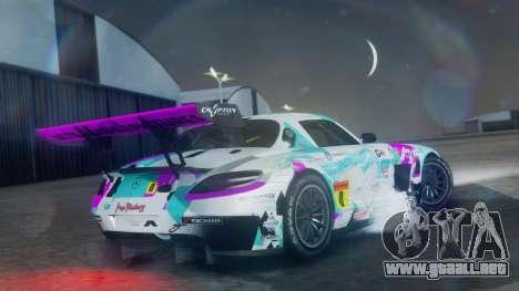 Mercedes-Benz SLS AMG GT3 2015 Hatsune Miku para GTA San Andreas left