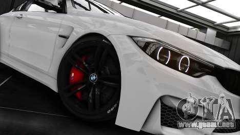 BMW M4 F82 2015 para GTA 4 vista hacia atrás