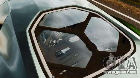Lamborghini Asterion LP900 para GTA 4 vista hacia atrás
