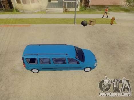 Lada Largus 7-door para visión interna GTA San Andreas