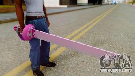Rose Sword from Steven Universe para GTA San Andreas tercera pantalla