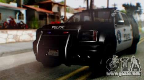 GTA 5 Police Ranger para GTA San Andreas left