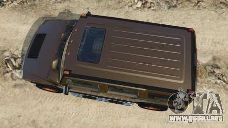 GTA 5 Hummer H2 2005 [tinted] vista trasera