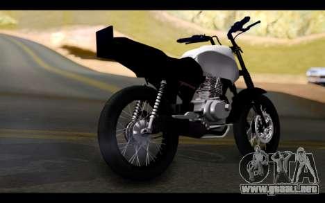 Honda CG Titan 150 Stunt Imitacion para GTA San Andreas left