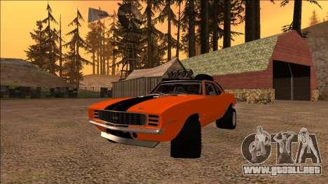 Chevrolet Camaro SS Rusty Rebel para GTA San Andreas vista hacia atrás