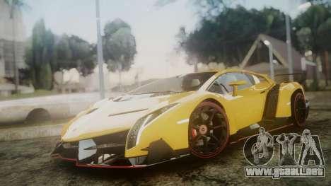 Lamborghini Veneno 2012 para GTA San Andreas vista posterior izquierda
