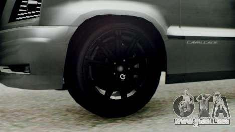 GTA 5 Albany Cavalcade II para GTA San Andreas vista posterior izquierda