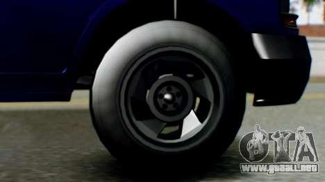 GTA 5 Vapid Speedo para GTA San Andreas vista posterior izquierda