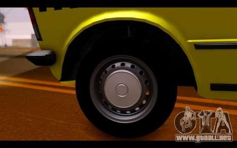 Zastava 125PZ Taxi para la visión correcta GTA San Andreas