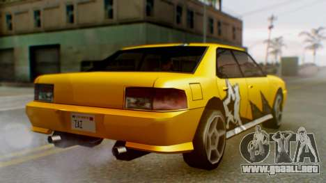 El sultán Винил из need For Speed ProStreet para GTA San Andreas vista posterior izquierda