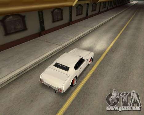 Sabre Boso para GTA San Andreas vista posterior izquierda