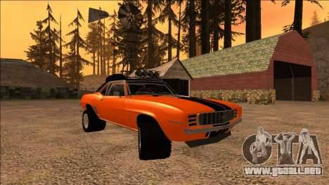 Chevrolet Camaro SS Rusty Rebel para visión interna GTA San Andreas