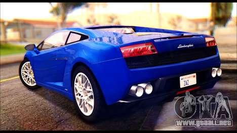 Lamborghini Gallardo LP560 para GTA San Andreas left