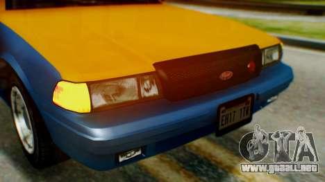 Vapid Taxi para visión interna GTA San Andreas