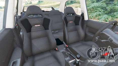 GTA 5 Mitsubishi Lancer Evolution VIII MR vista lateral derecha