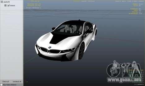 GTA 5 2015 BMW I8 vista lateral derecha