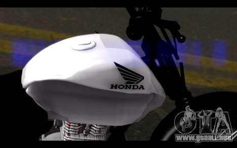 Honda CG Titan 150 Stunt Imitacion para la visión correcta GTA San Andreas