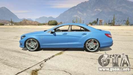 GTA 5 Mercedes-Benz CLS 6.3 AMG 1.1 vista lateral izquierda trasera
