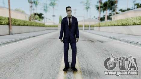 GMAN v2 from Half Life para GTA San Andreas segunda pantalla