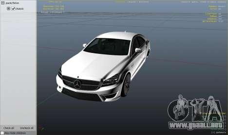 GTA 5 Mercedes-Benz CLS 63 AMG v.1.2 vista lateral derecha