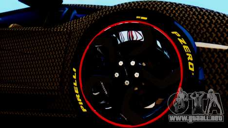 Lamborghini Aventador Mansory Carbonado para GTA San Andreas vista posterior izquierda