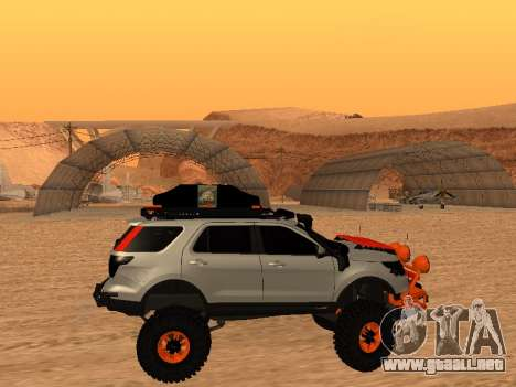 Ford Explorer 2013 Off Road para GTA San Andreas vista posterior izquierda