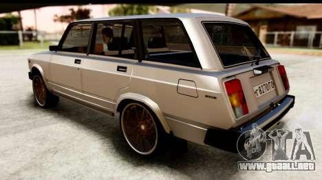 ВАЗ 2104 turco Edición para GTA San Andreas vista posterior izquierda