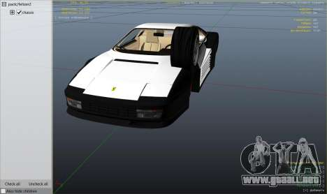 GTA 5 1984 Ferrari Testarossa 1.9 vista lateral derecha