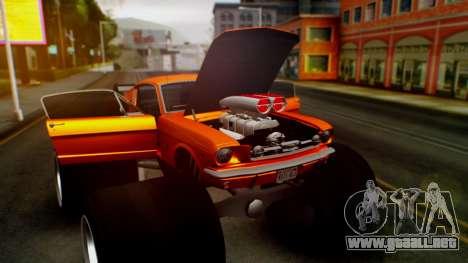 Ford Mustang 1966 Chrome Edition v2 Monster para la vista superior GTA San Andreas