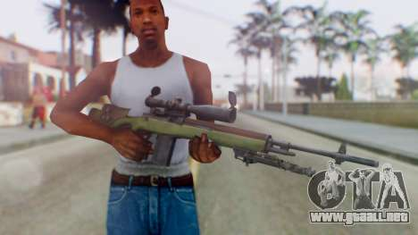 ARMA2 M14 Dmr Sniper para GTA San Andreas tercera pantalla