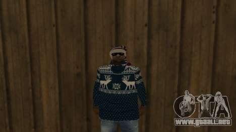 Ballas New Year Skin para GTA San Andreas segunda pantalla