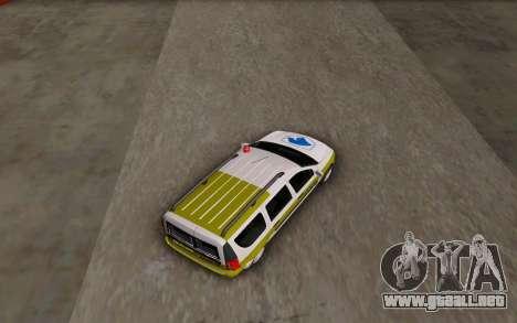 Dacia Logan Emdad Khodro para GTA San Andreas vista posterior izquierda
