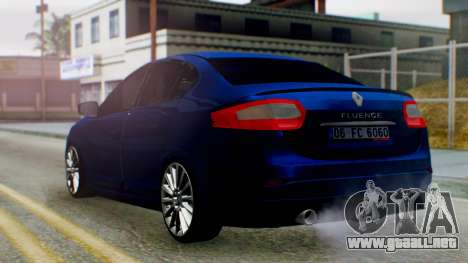 Renault Fluence King para GTA San Andreas left