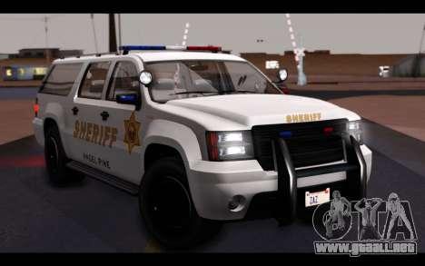 GTA 5 Declasse Sheriff Granger IVF para vista lateral GTA San Andreas