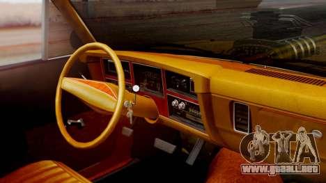 Dodge Dart 1975 Estilo Drag para la visión correcta GTA San Andreas