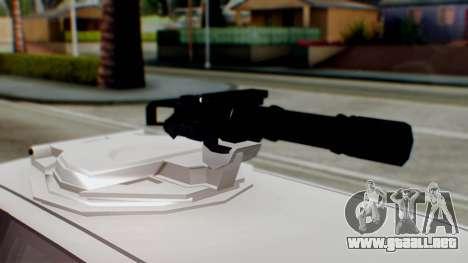 GTA 5 Benefactor Stretch E Turreted IVF para GTA San Andreas vista posterior izquierda