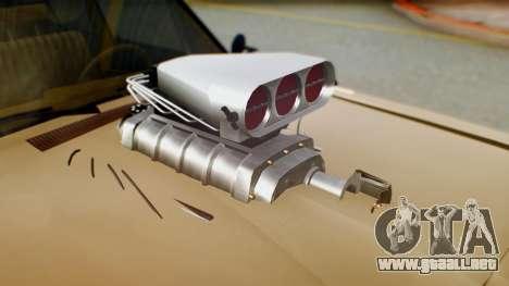 Dodge Dart 1975 Estilo Drag para GTA San Andreas vista hacia atrás