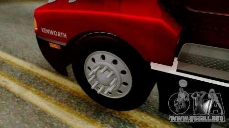 Kenworth T600 Aerocab 72 Sleeper para la visión correcta GTA San Andreas