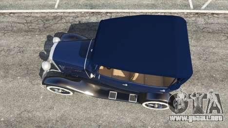 GTA 5 Ford Model T 1927 [Tin Lizzie] vista trasera
