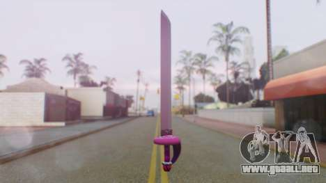 Rose Sword from Steven Universe para GTA San Andreas segunda pantalla