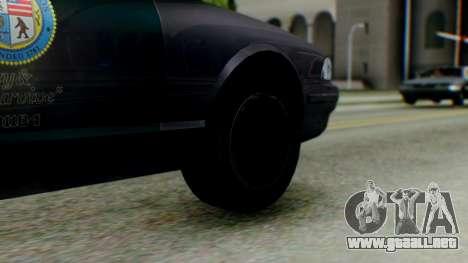 GTA 5 Vapid Stanier II Police IVF para GTA San Andreas vista posterior izquierda