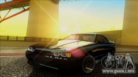 Elegy HellCat para GTA San Andreas vista hacia atrás
