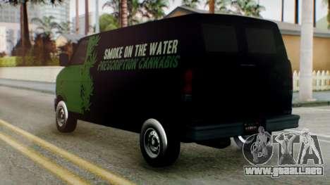 GTA 5 Brute Pony Smoke on the Water para GTA San Andreas left