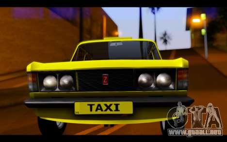 Zastava 125PZ Taxi para GTA San Andreas vista hacia atrás