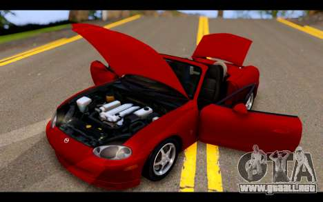 Mazda MX-5 para vista lateral GTA San Andreas
