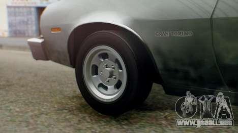 Ford Gran Torino 1974 IVF para GTA San Andreas vista hacia atrás
