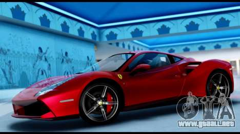 Ferrari 488 GTB 2016 para GTA San Andreas vista posterior izquierda