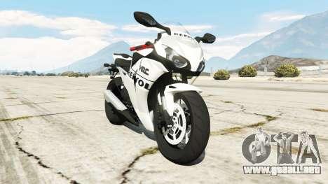 Honda CBR1000RR [Repsol White] para GTA 5