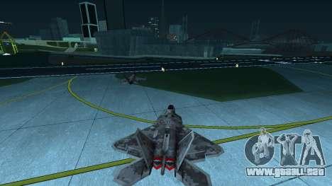 F-22 Raptor PJ para la visión correcta GTA San Andreas