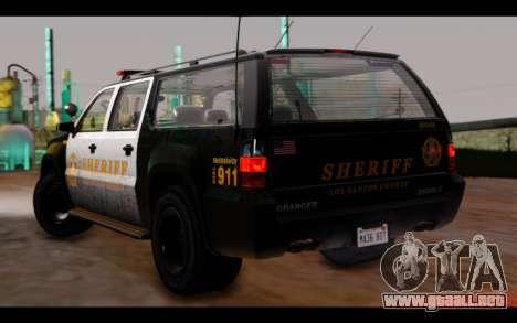 GTA 5 Declasse Sheriff Granger IVF para GTA San Andreas left